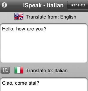 learn italian with ispeak italian iphone apps finder. Black Bedroom Furniture Sets. Home Design Ideas
