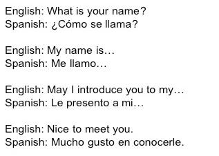 Spanish Language Words In English