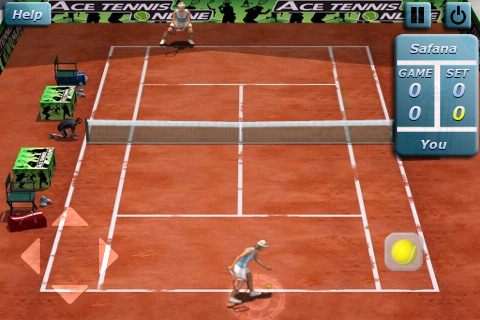 Ace Tennis 2010  lets you play tennis on your iPhone. Graphics are superb  and the controls are adequate. Looks great on iPhone 4. ff31005a4c402