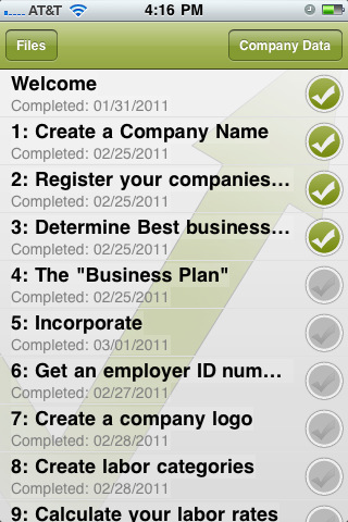 Startup Checklist  Iphone Apps Finder