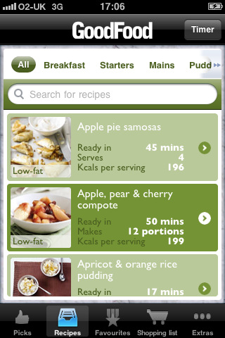 7 cool iphone apps for vegetarians iphone apps finder good food healthy recipes perfect for those of you who want to start eating more healthy food throughout the day it covers all kinds of diets and makes it forumfinder Choice Image