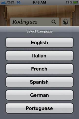 Last Name Origin & Meaning :: iPhone Apps Finder