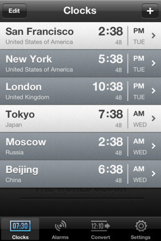 do iphones automatically change time zones the world clock iphone apps finder 6462