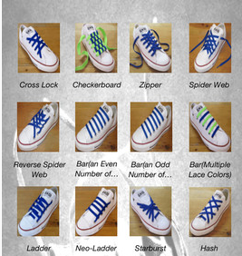 Shoe Lacing Methods For Converse