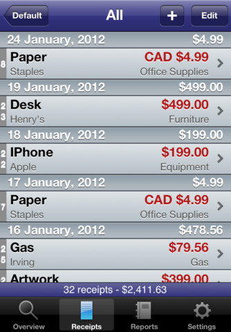 receipts for iphone