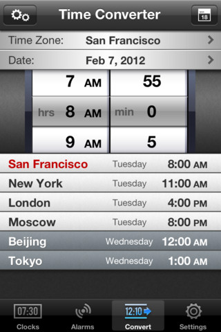 6 quality world clock apps for iphone iphone apps finder the world clock turns your iphone into a time converter it provides you with a daynight map and provides you with an alarm with time zone support gumiabroncs Images