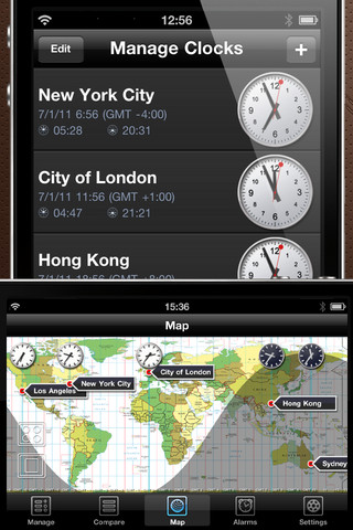 6 quality world clock apps for iphone iphone apps finder world clock pro a pretty sophisticated world clock app for ios it provides you with a world map view and lets you plan your activities more effectively gumiabroncs Images