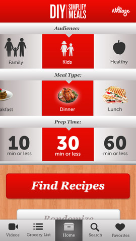 Diy Simplify Meals App For Iphone Iphone Apps Finder