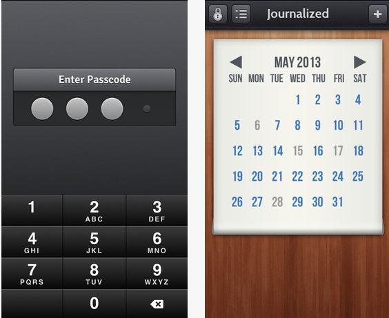 journalized app