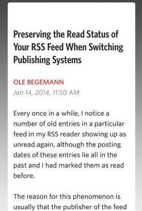 unread reader