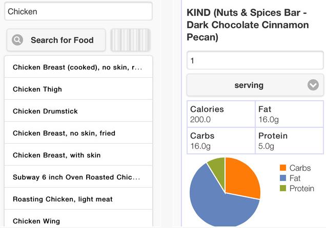nutrition lookup