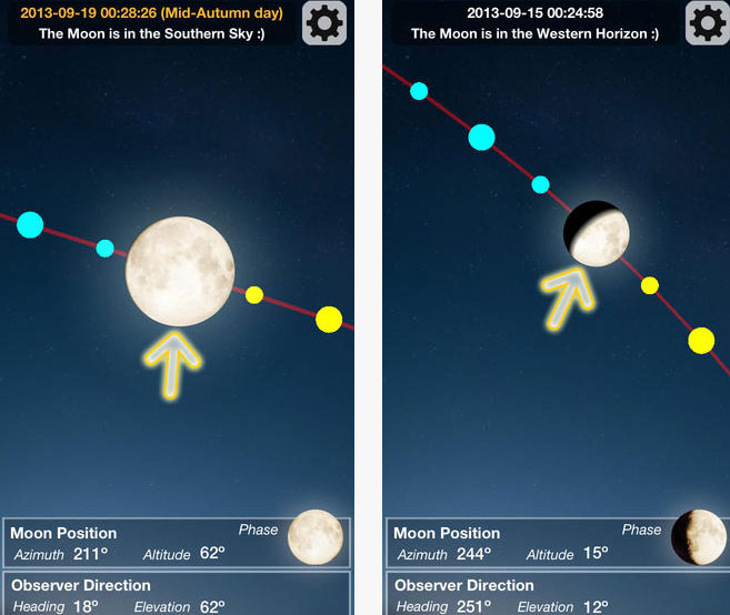 Moon Finder For IOS Augmented Reality Moon App IPhone Apps Finder - Elevation finder app