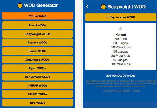 WOD Generator for iPhone :: iPhone Apps Finder