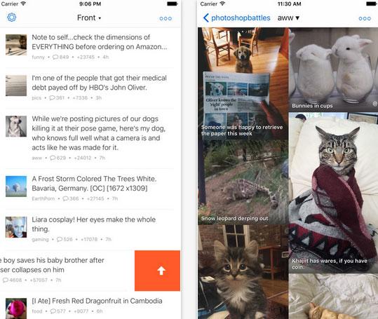 Readder Ios App For Reddit Iphone Apps Finder