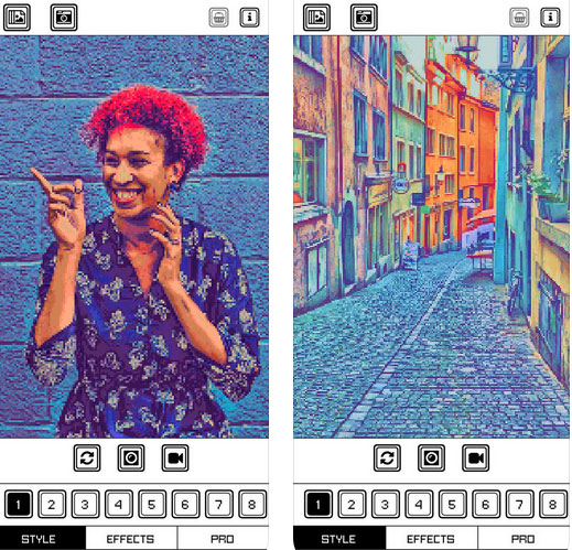 Pixel Art Camera for iPhone :: iPhone Apps Finder