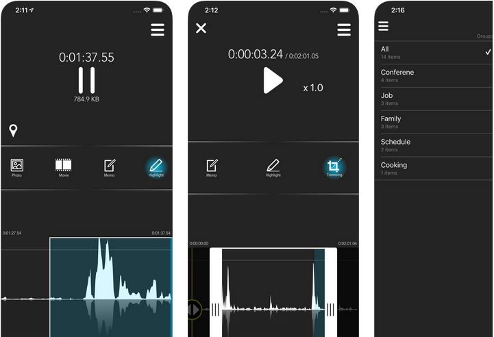 Rynx: Advanced Voice Recorder for iPhone :: iPhone Apps Finder